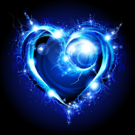 Blue swirly heart