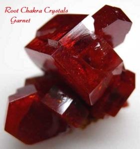 Raw Garnet-Root Chakra Crystals